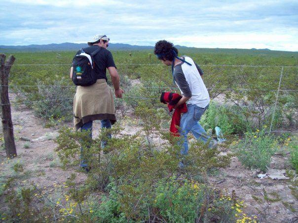 La búsqueda del peyote comenzó a la altura del poste 136.